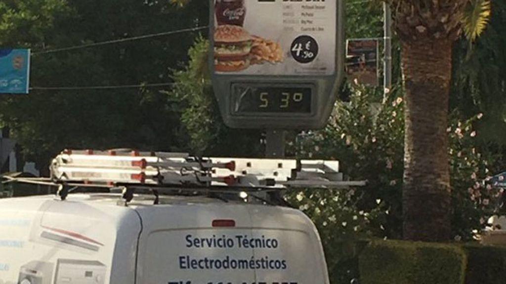 Marimar de la Vega desde Utrera (Sevilla), con 53 grados a las siete de la tarde