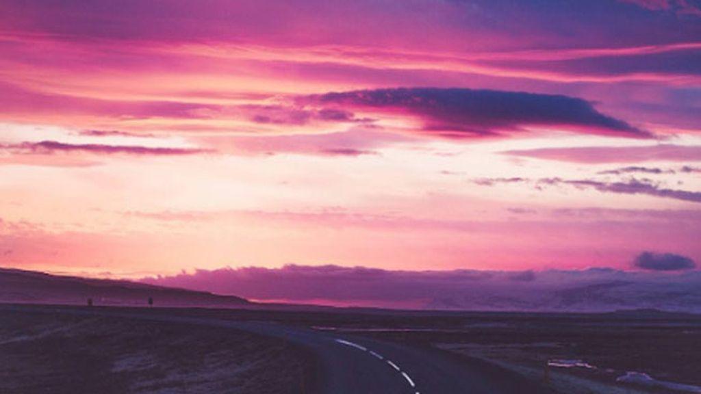 Atardecer en Islandia