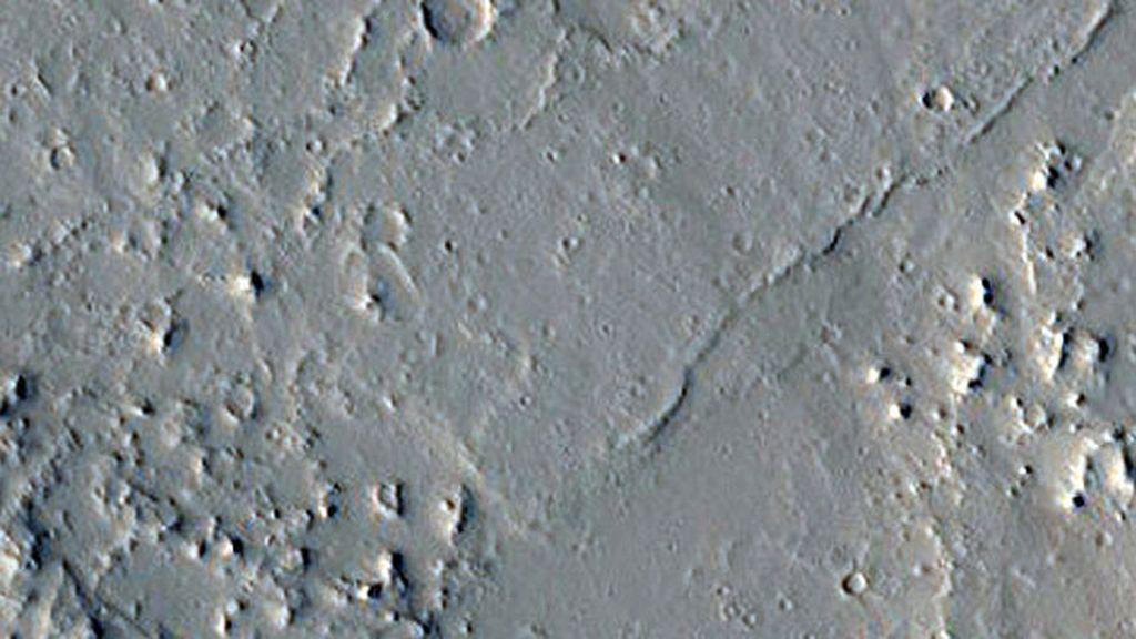 Los restos de lava pueden ser una prueba evidente de que un volcán erupcionó cerca de Olympica Fossae
