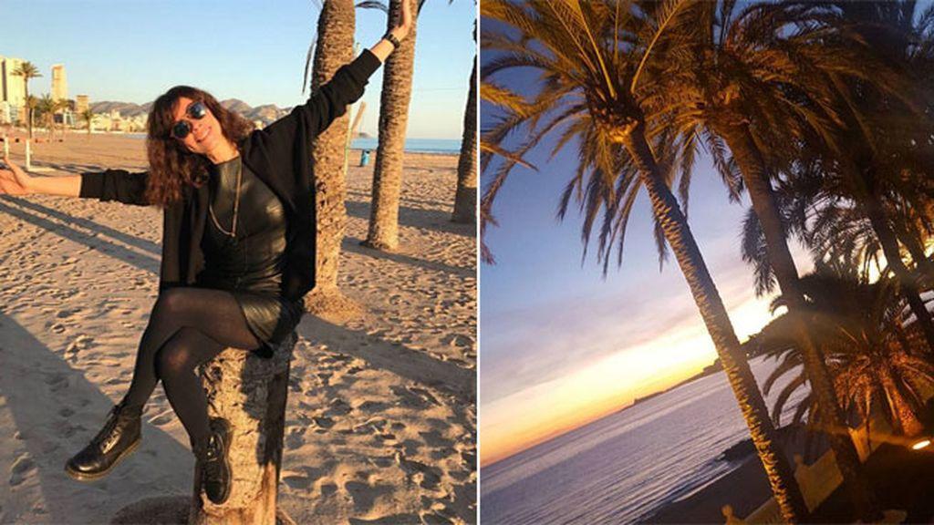 Maribel Verdú pasa unos días en familia en la isla de La Palma