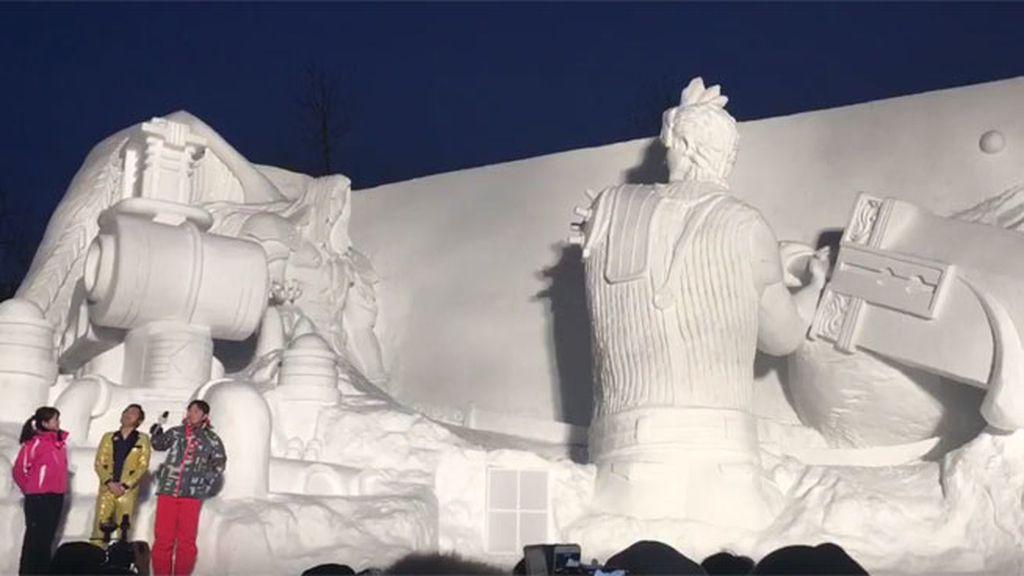 La batalla decisiva de 'Final Fantasy VII' en la nieve