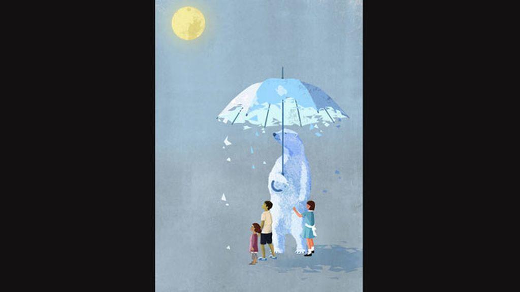 Eva Vázquez participa con este dibujo que representa el calentamiento global