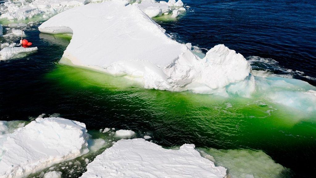 hielo verde