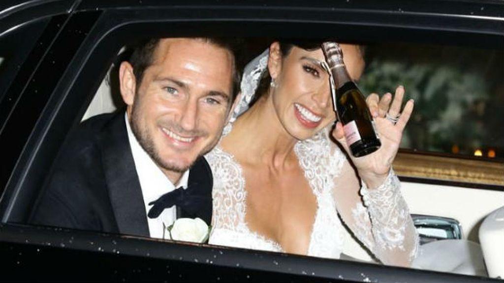 Frank Lampard y Christine Bleakley, buscando la lluvia