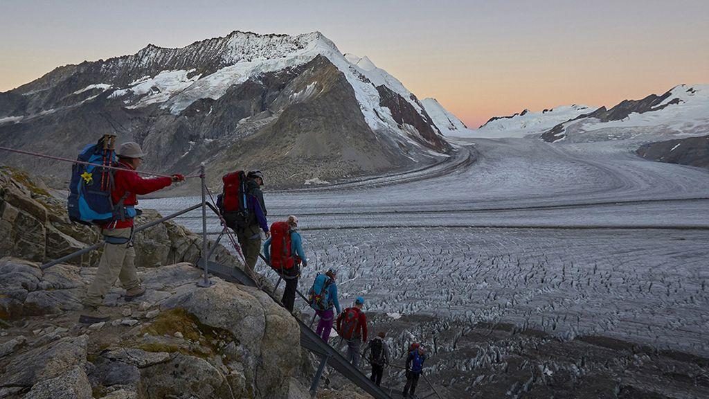 El Gran Aletsch mide 23 kilómetros