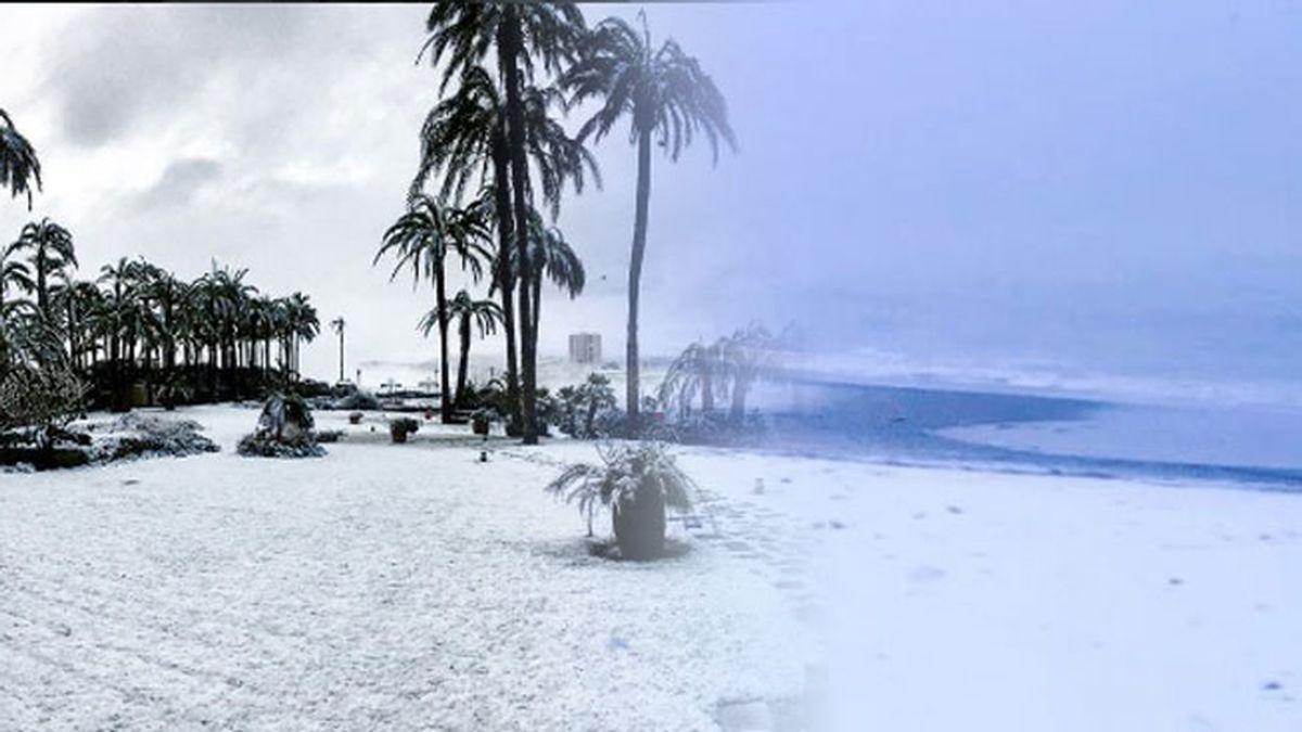 playa nieve