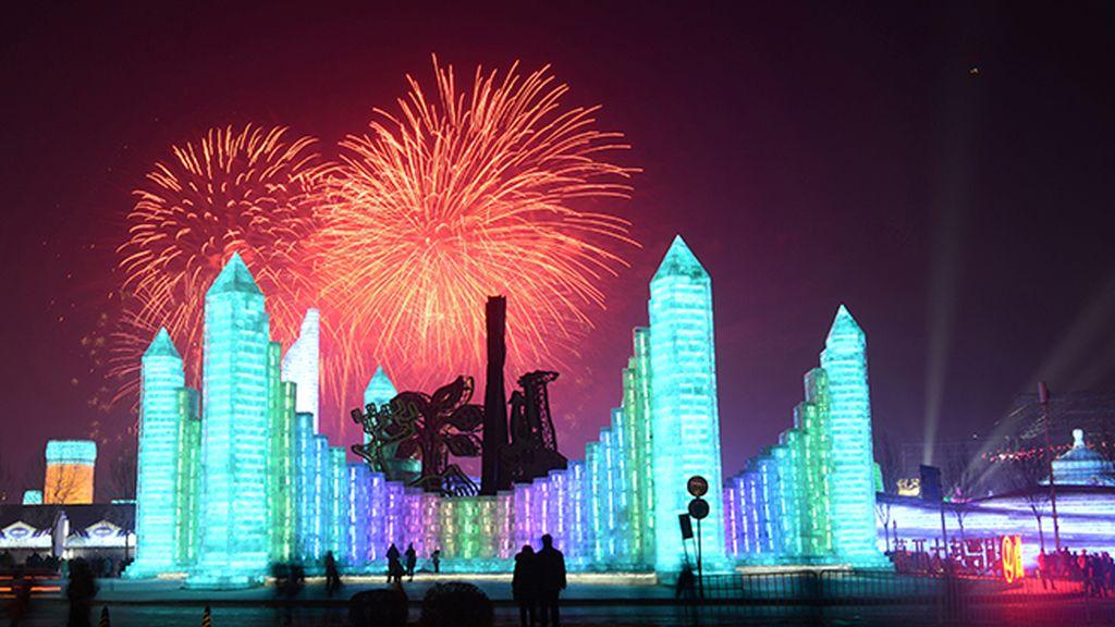 Es el festival más grande del mundo, con 600.000 metros cuadrados de fantasía helada
