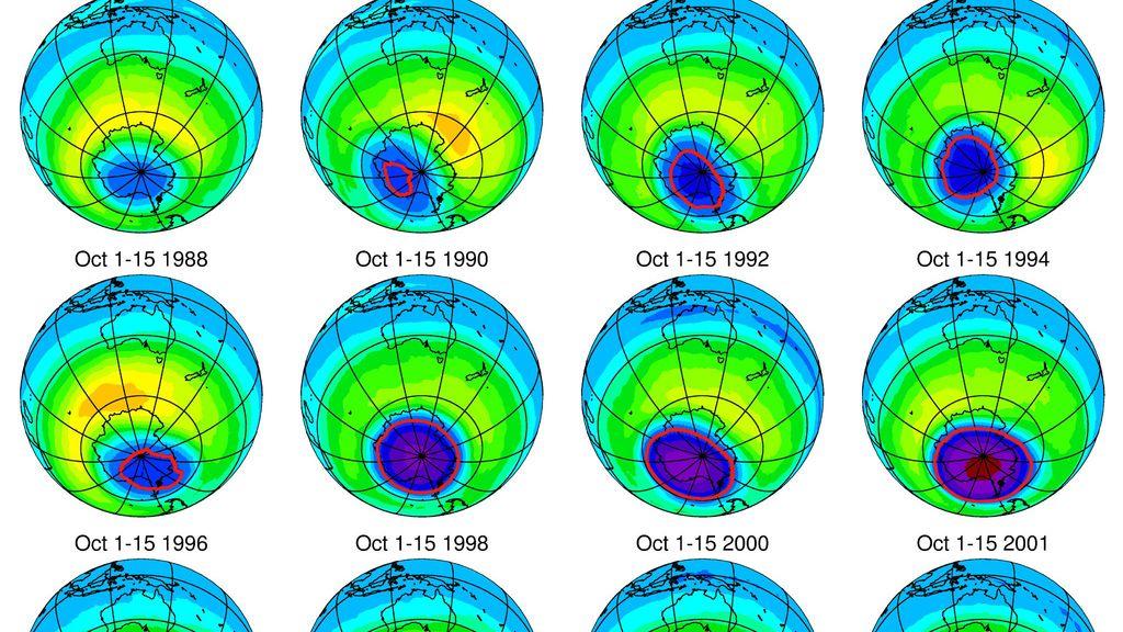 evolución capa de ozono