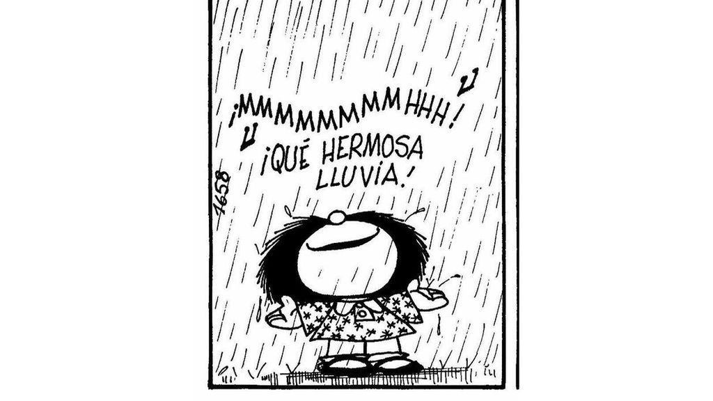 La lluvia era de las cosas preferidas de Mafalda