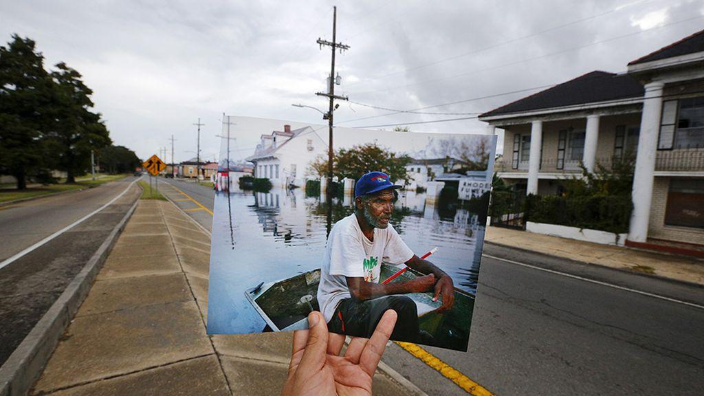 El antes y el después del huracán