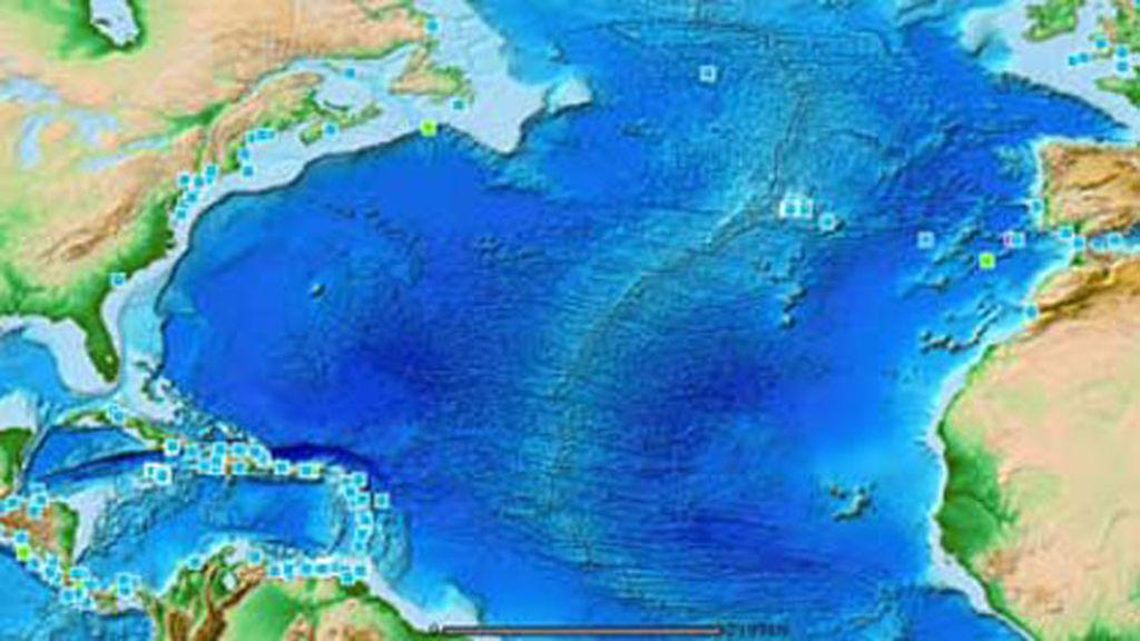 mapa de tsunamis