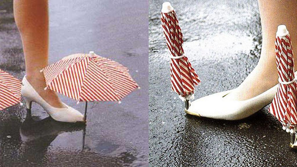 Paraguas zapatos