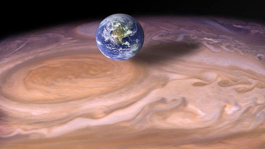 Júpiter, una tormenta como la Tierra