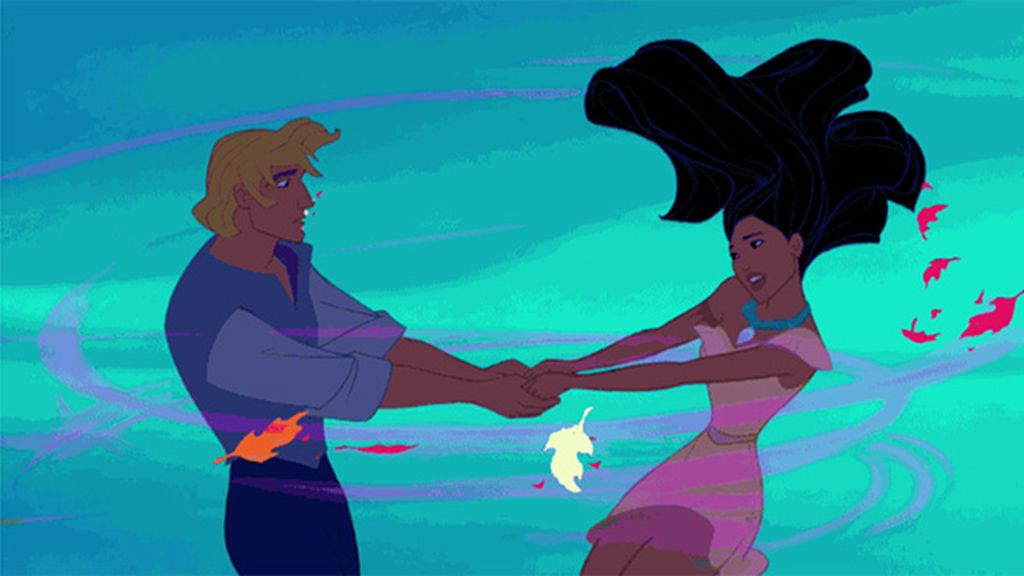 Descubrir 'colores en el viento' como John Smith y Pocahontas