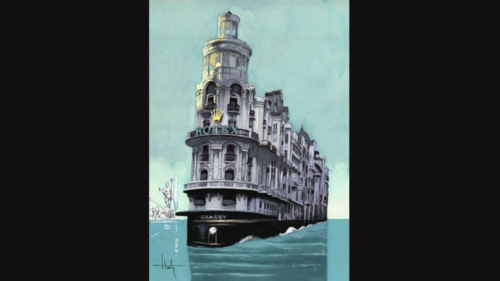 Fernando Vicente y su barco de 'Rolex' navegando por el deshielo del Ártico
