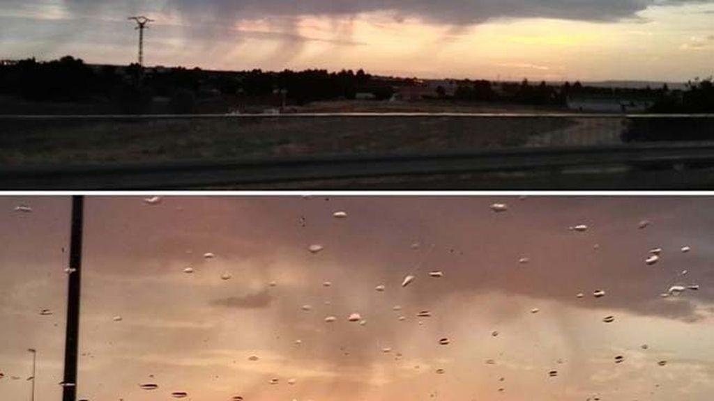 Ernesto (@mi_vida_desde_el_coche) veía así Madrid desde su coche esta mañana
