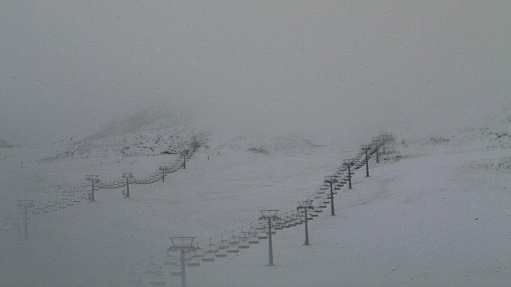 La noche del jueves se han producido mantos de nieve de entre 2 y 10 cm. de espesor