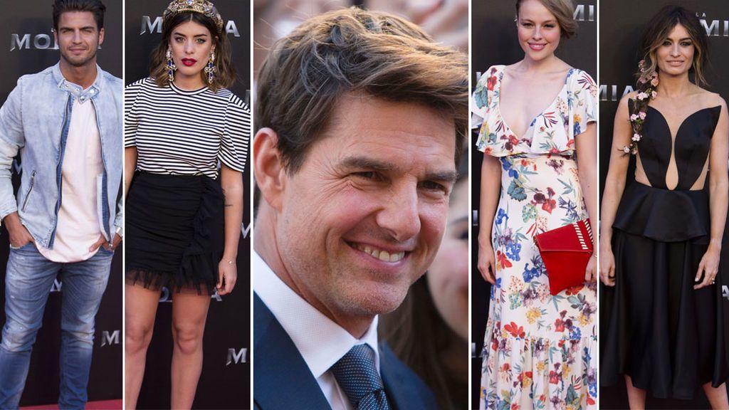 Los famosos acudieron a los cines Callao, donde Cruise estrenaba 'La Momia'
