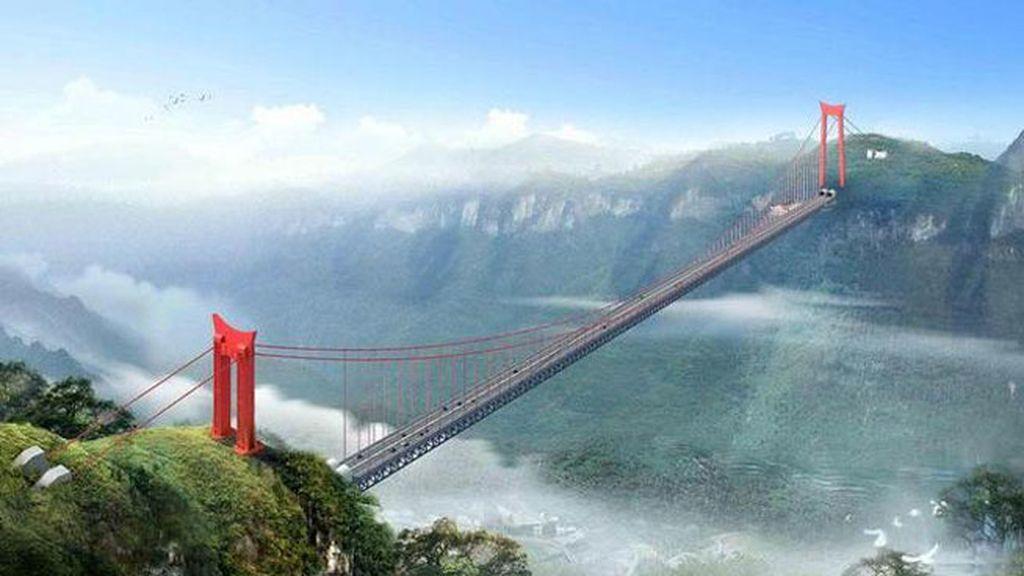 El Puente Siduhe en China es el segundo más alto en el mundo con 496 metros de altura