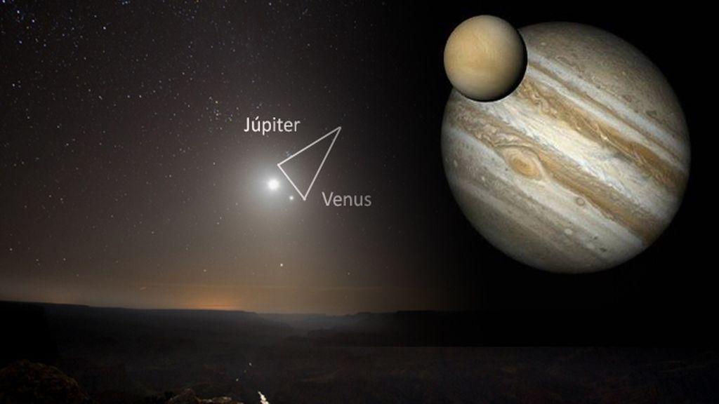 El beso de Venus y Júpiter
