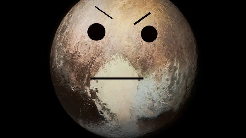 Plutón enfadado
