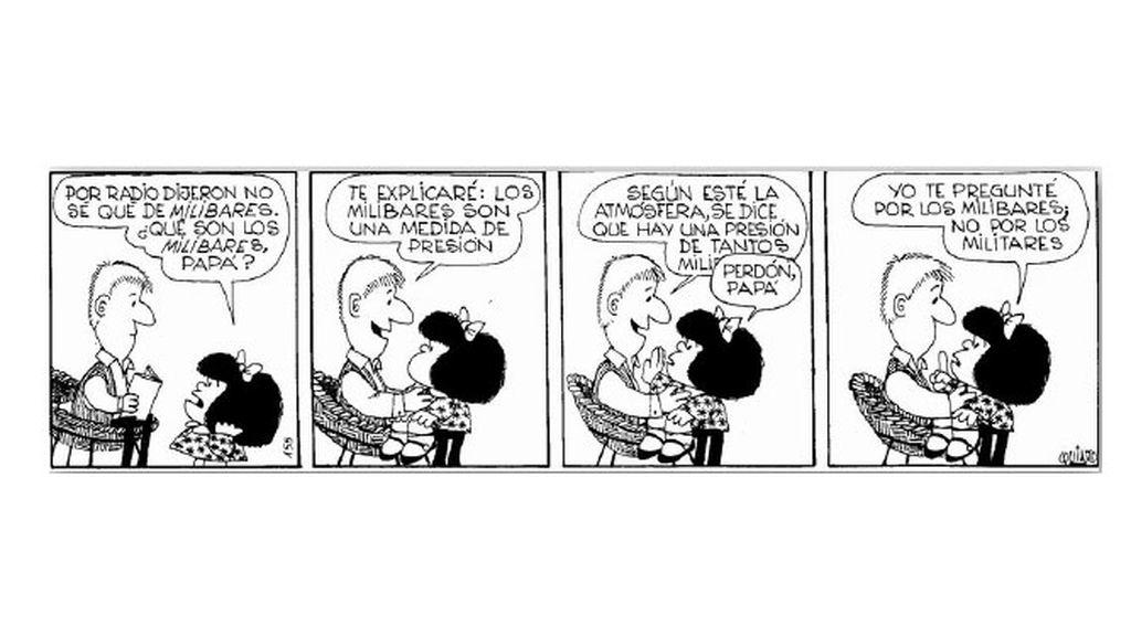 Mafalda y el mapa del tiempo