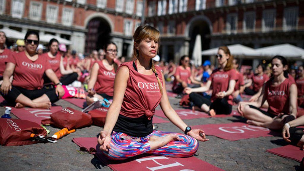 Yoga en pleno centro