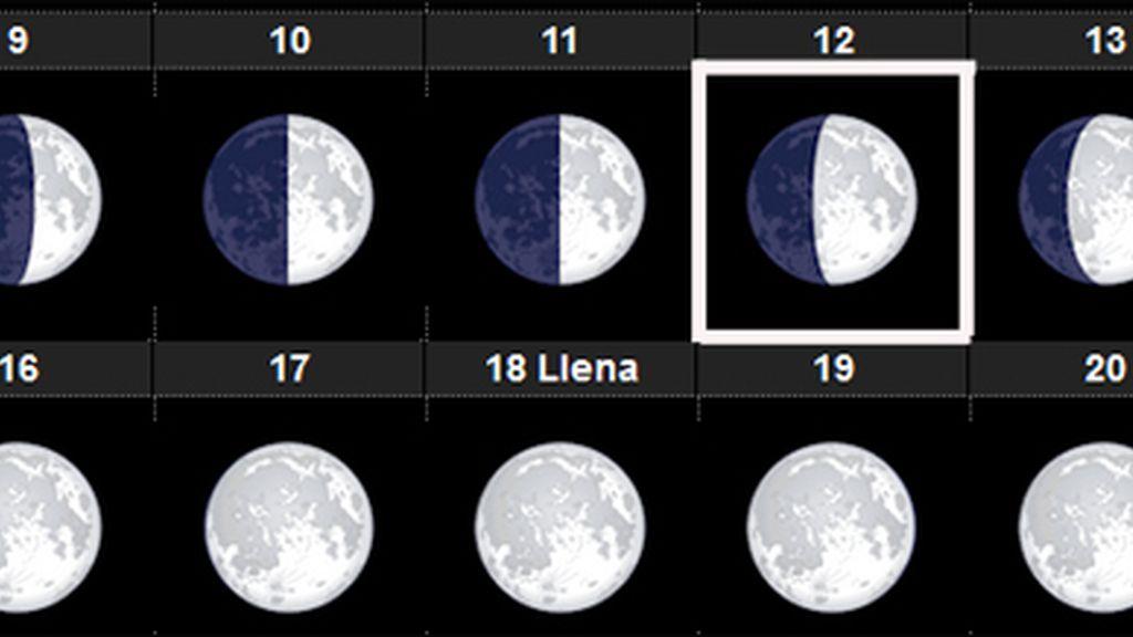 Fase luna Perseidas