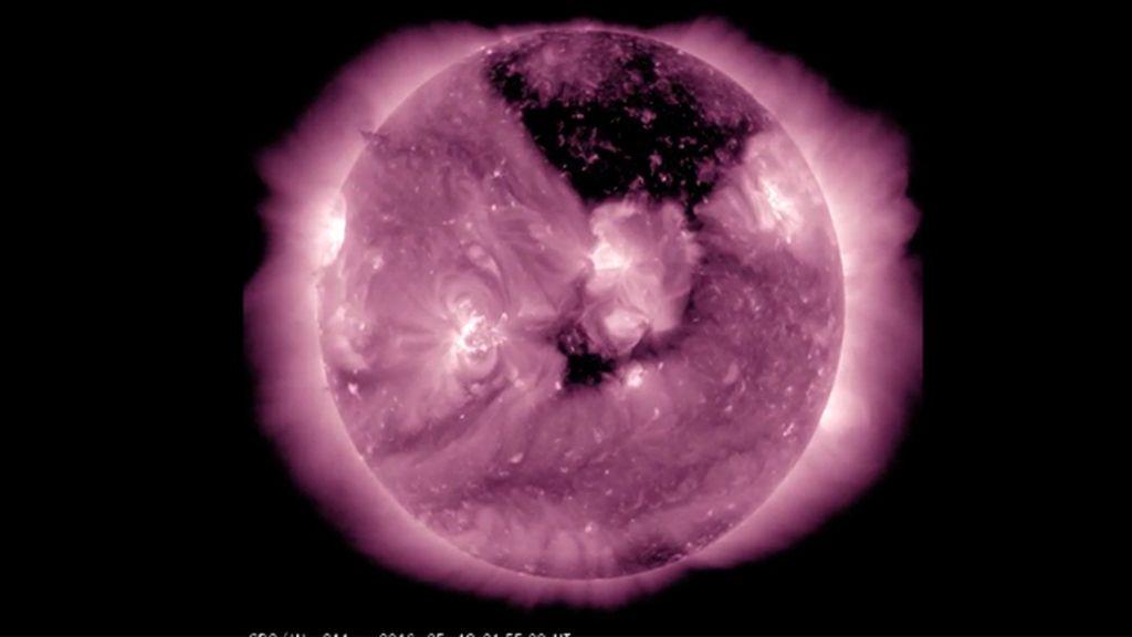 agujero en el sol