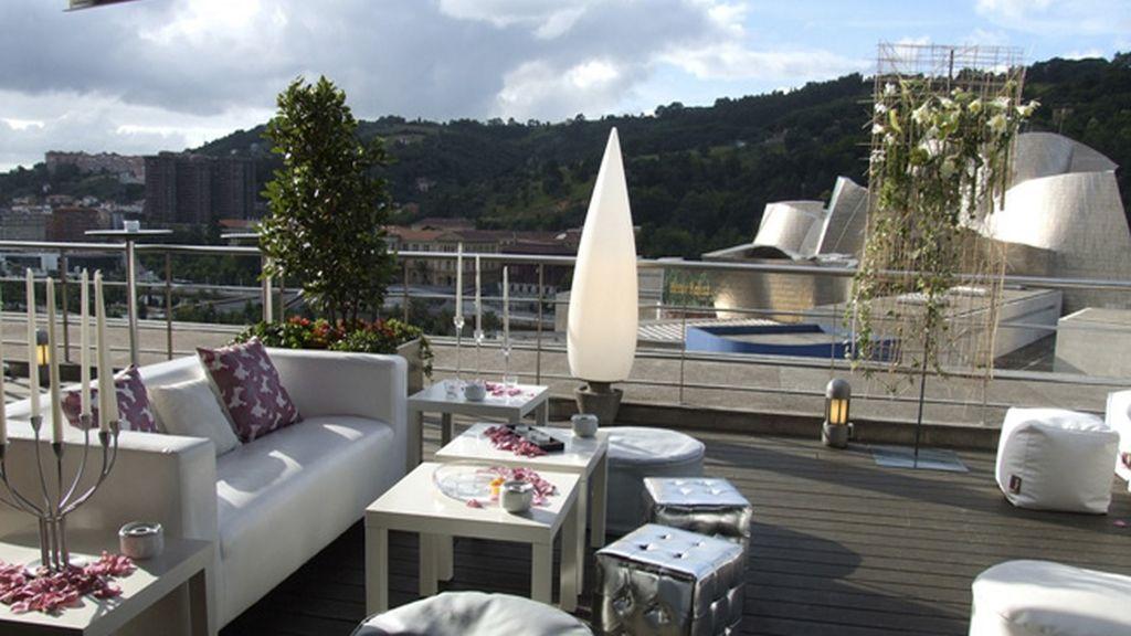 Terraza Gran Hotel Dómine Bilbao