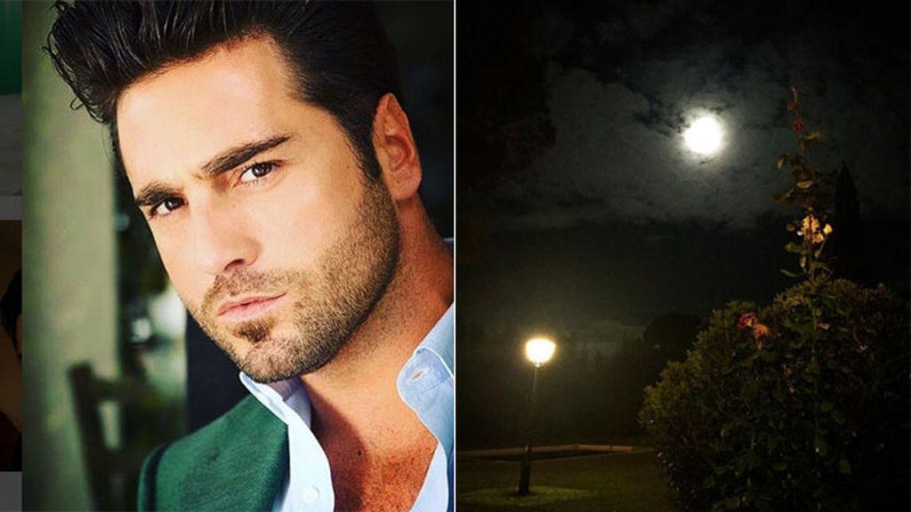 David Bustamante descansa de la gira disfrutando de la 'Superluna'
