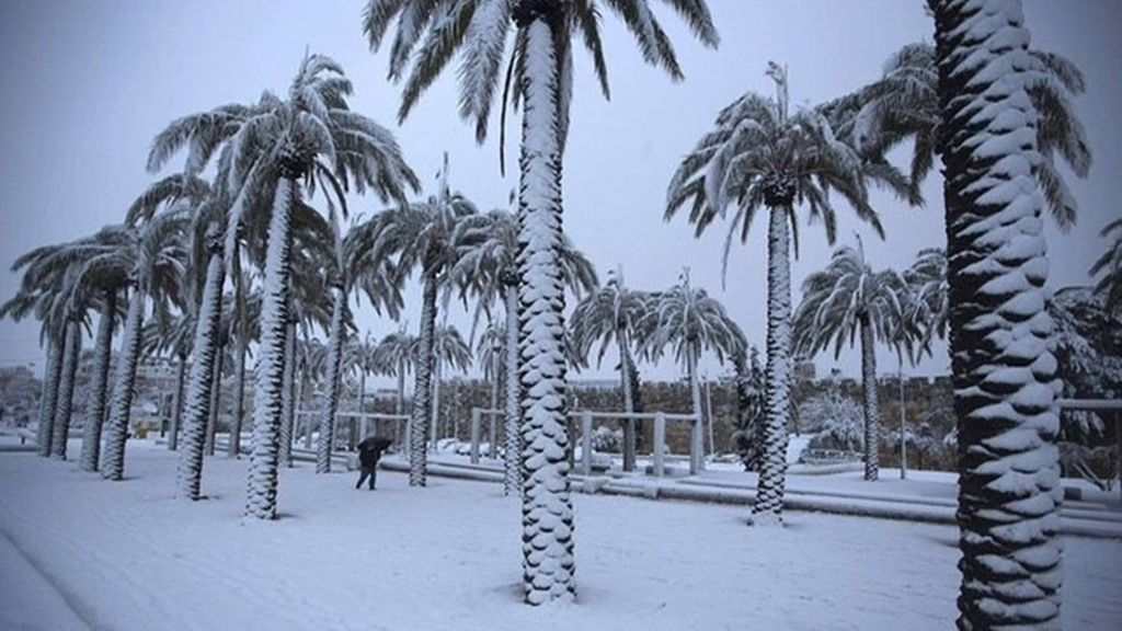 Nieve en Arabia Saudí