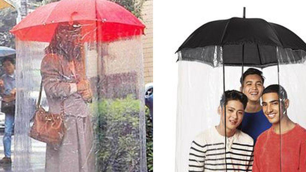 Paraguas Cortina