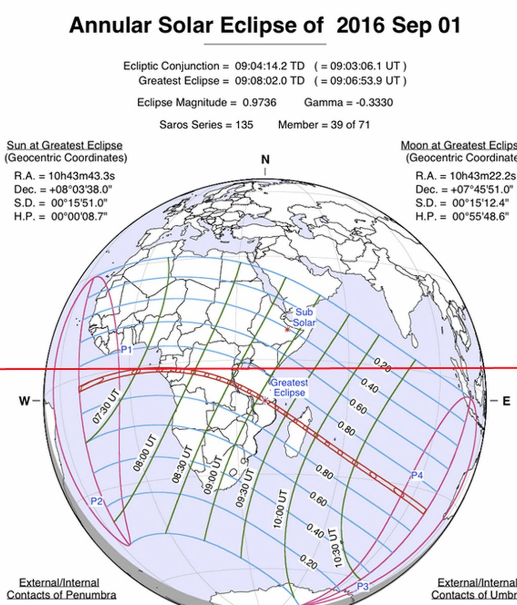 mapa eclipse NASA