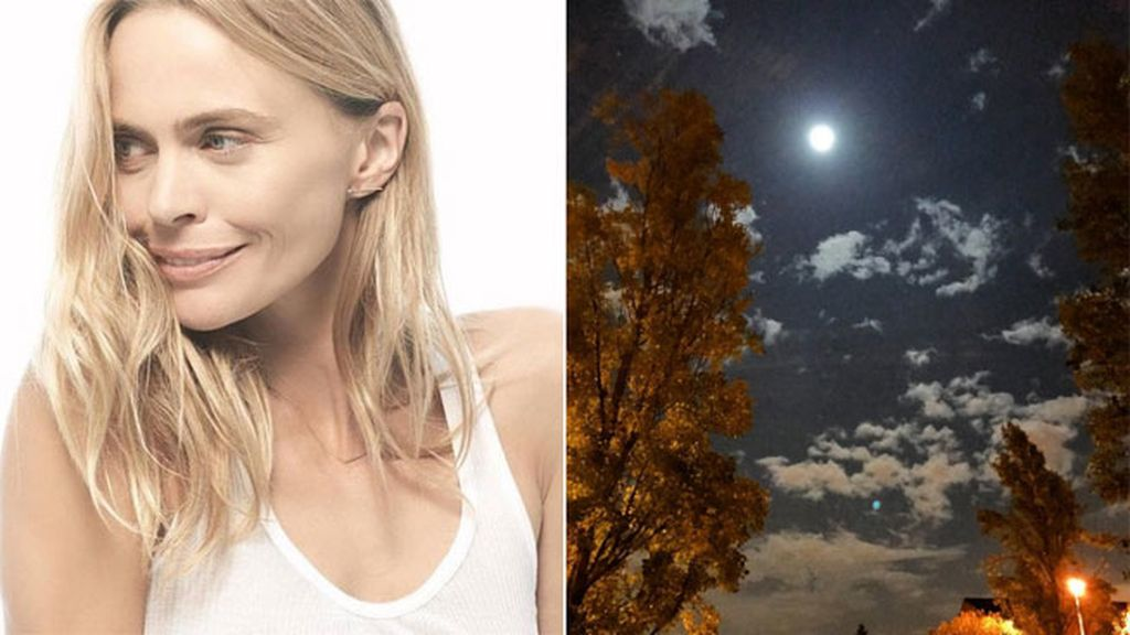 La supermodelo Veronica Blume y la 'Superluna', juntas esta madrugada