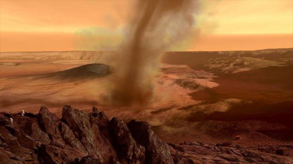 Marte, el planeta de los tornados de arena