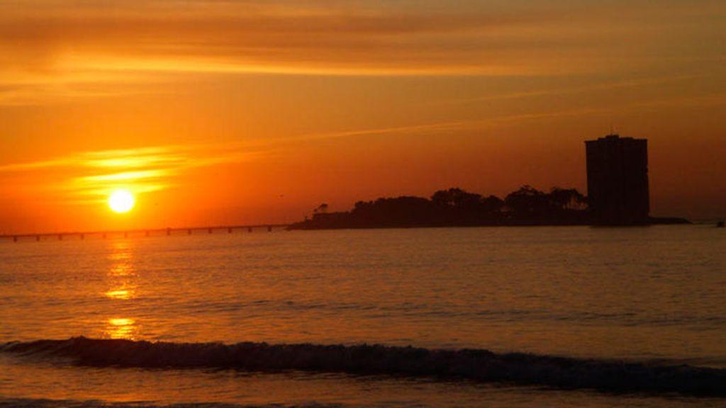 Desde Vigo, el sorprendente sky line de la Isla de Toralla