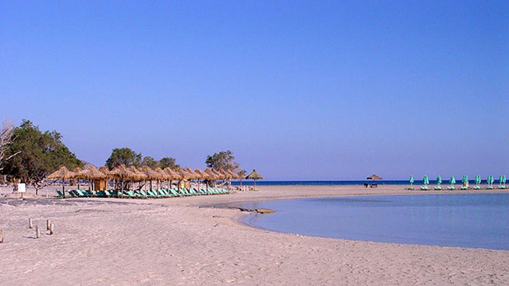 La playa Elafonisi, en Creta