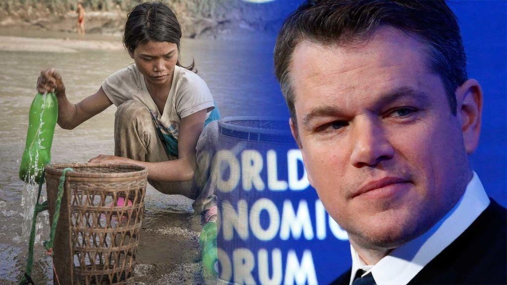El actor y activista Matt Damon, contra el 'fraking' y defensor del 'agua para todos'