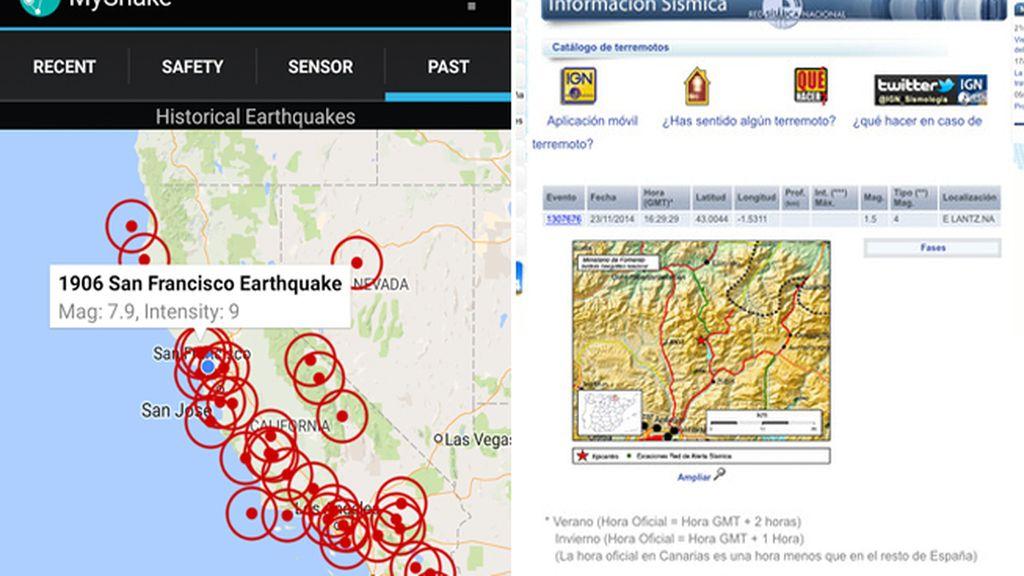 app terremotos montaje