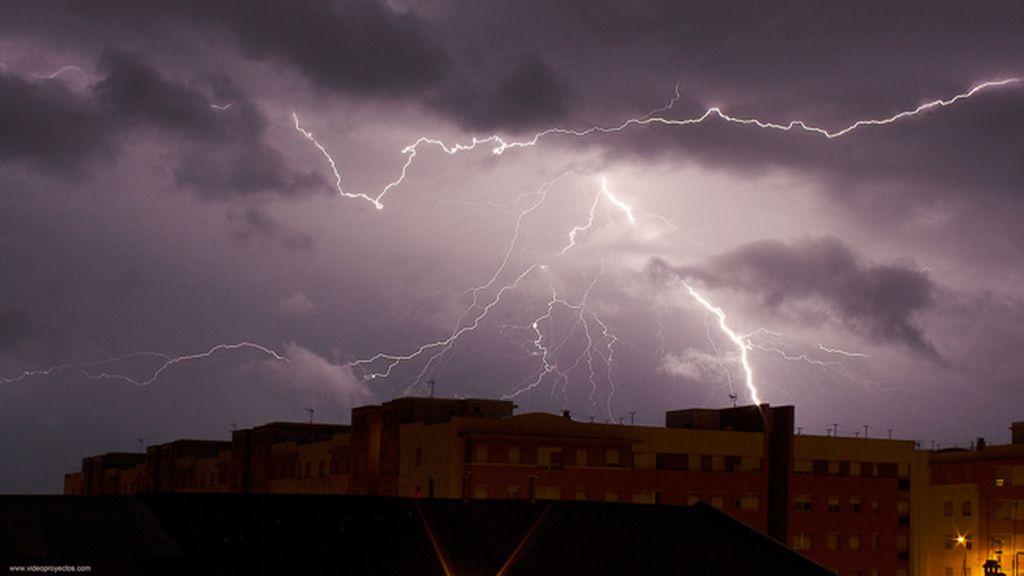 Top ten fotos 2016: tormenta en Chiclana de la Frontera, Cádiz