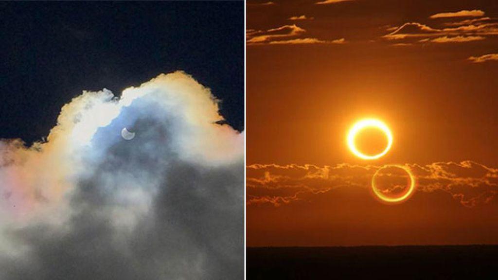 fotos del eclipse anular