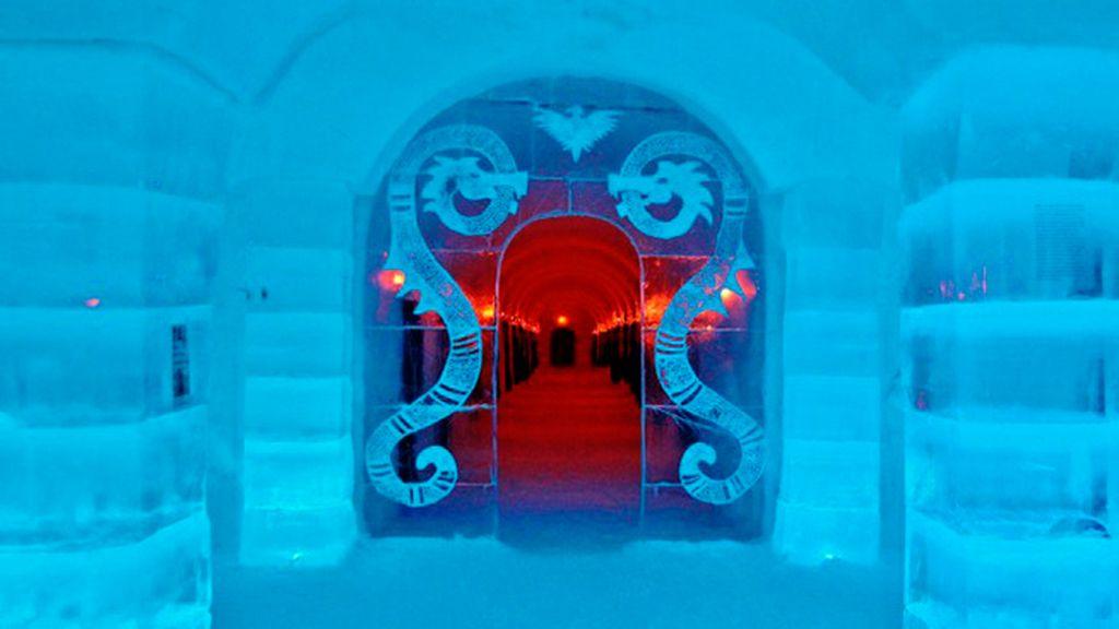Sorrisniva Igloo Hotel y Kirkenes Snow en Noruega: escultóricos