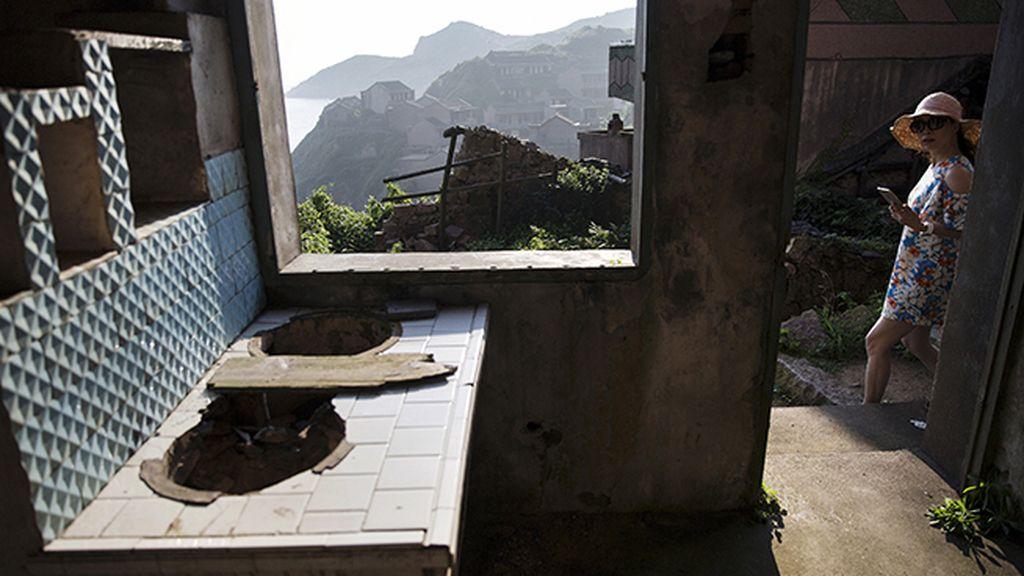 La pequeña aldea fue abandonada hace 20 años
