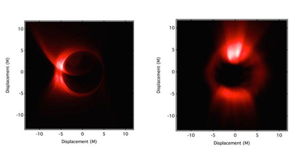 agujero negro simulación