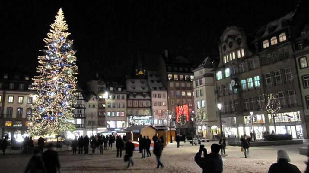 Mercado de Navidad en Estrasburgo, Alsacia (Francia)