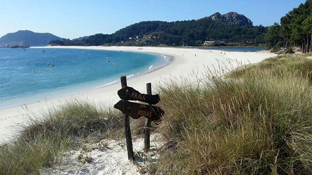 La Playa de Rodas, en Vigo
