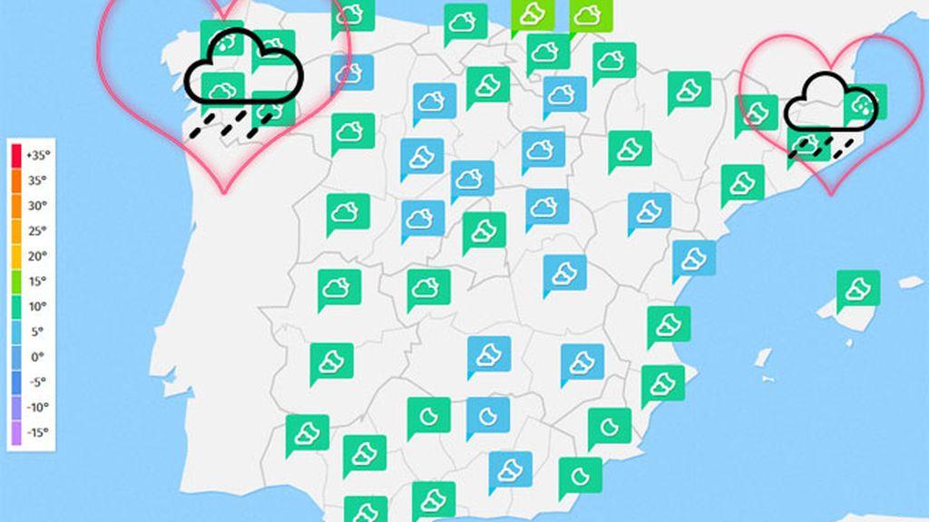Mapas tiempo san valentin