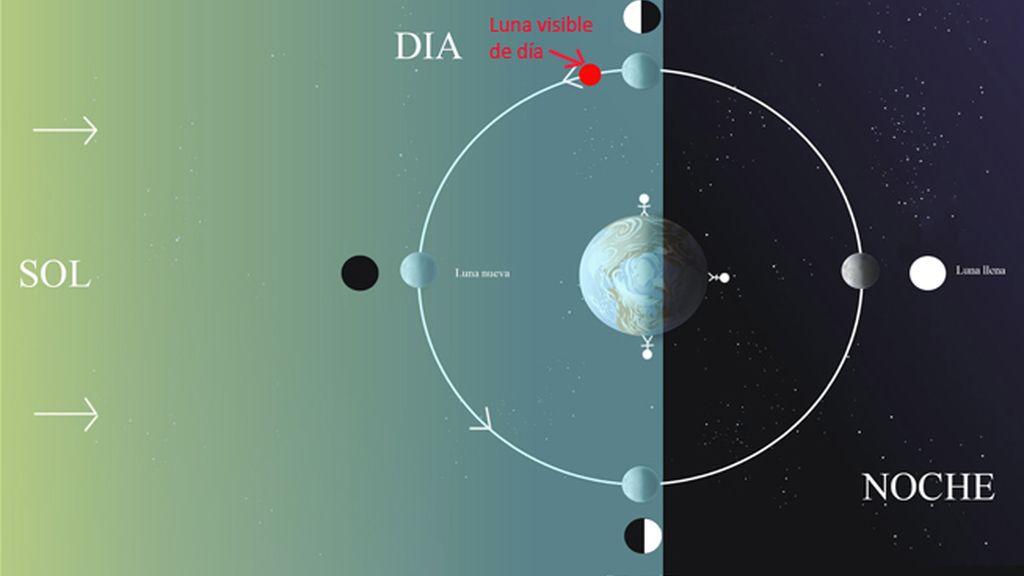 Gráfico Luna visible día