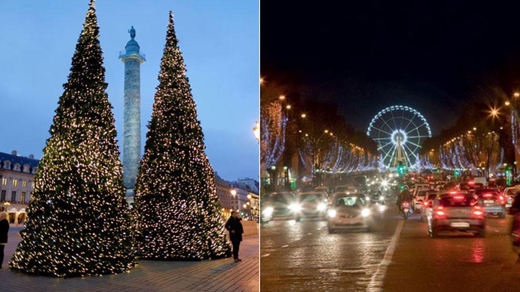 Plaza Vendome y Campos Elíseos de París
